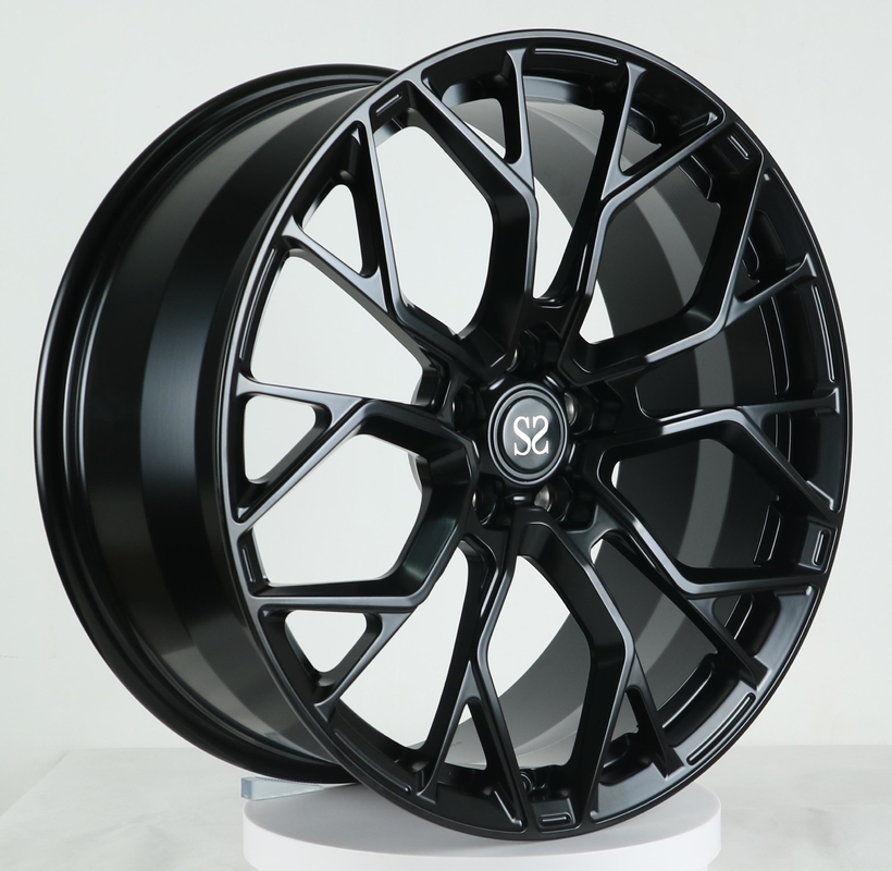 20 inch staggered 5*112 black milled forged alloy wheels for McLaren