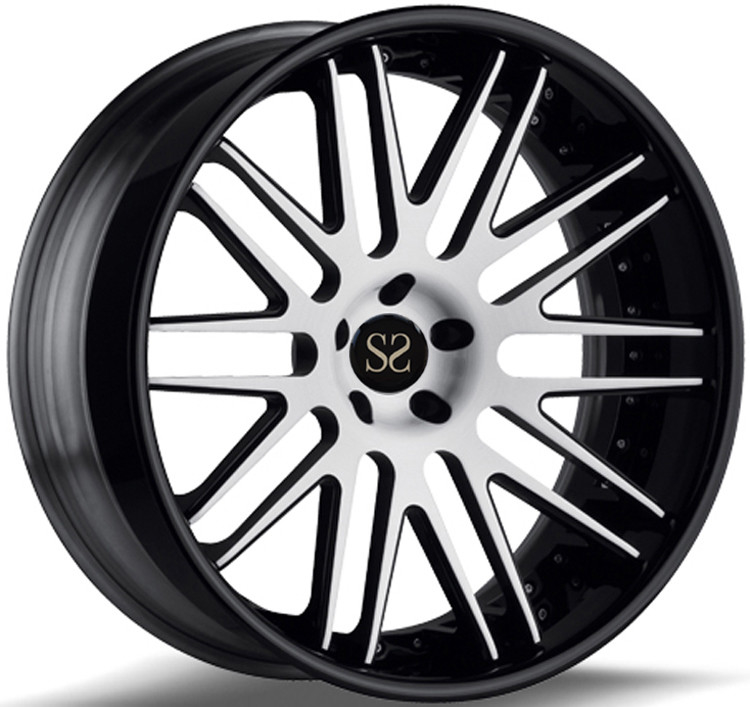Custom Gloss Black 22 Inch 2- PC Forged Alloy RIms For Mustang